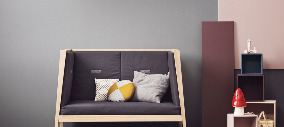 linea bed turns into a sofa